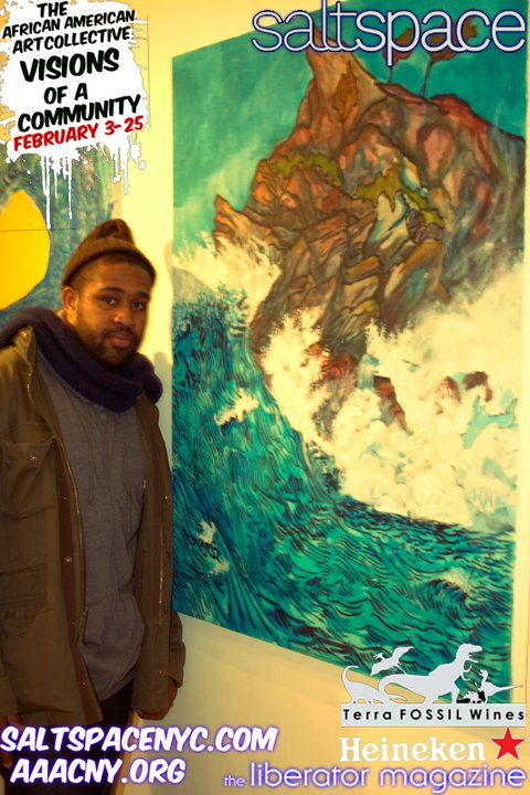 At the opening for AAAC, Visions of a Community Show