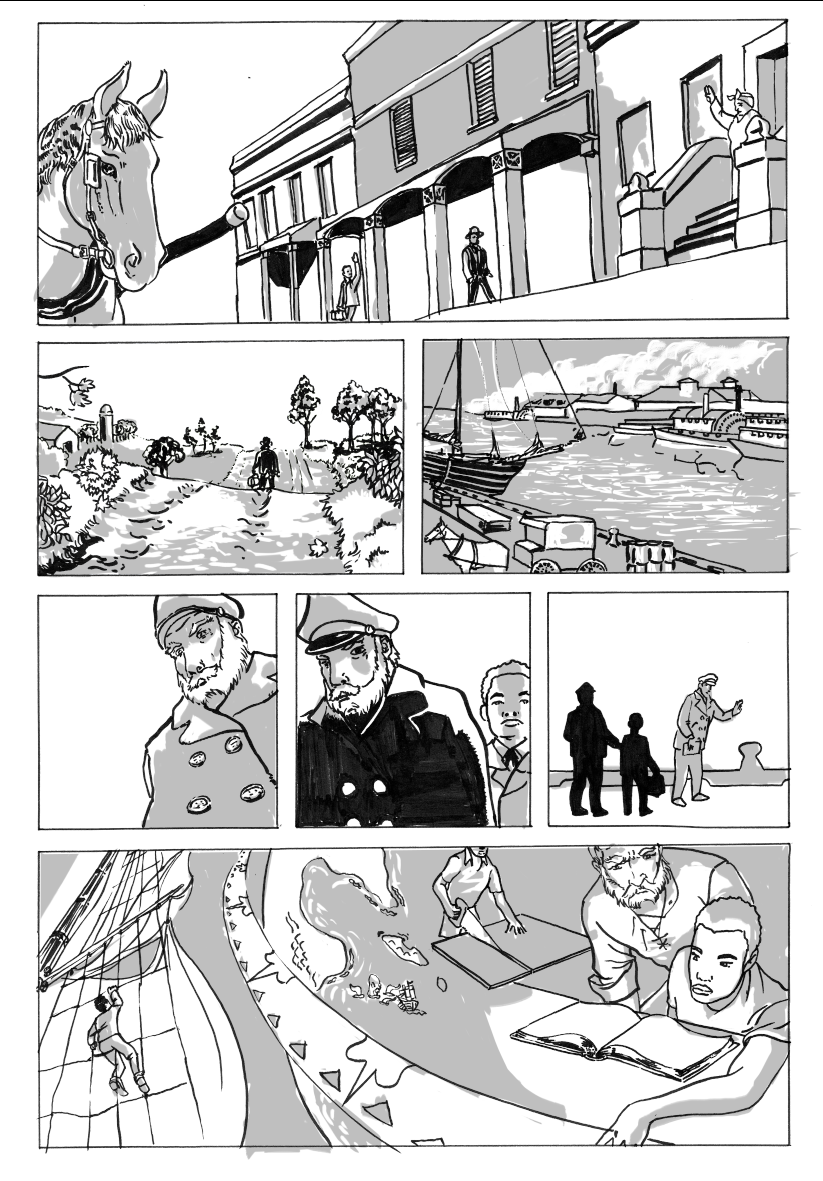 Page from Ice Cap Explorer by Charles Hearn