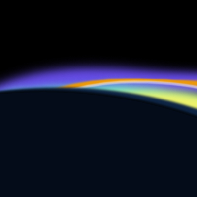 Earth sunrise from atmosphere pre-Anthropocene
