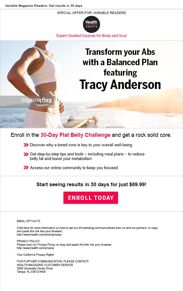 Health e-mail campaign